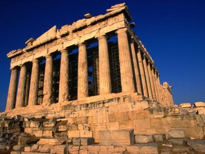 The Massive Doric Columns of the Parthenon, Athens, Attica, Greece