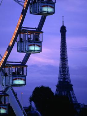The Paris Ferris Wheel and Eiffel Tower, Paris, Ile-De-France, France by Doug McKinlay