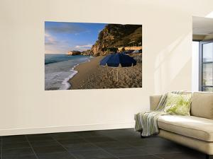 Umbrella on Kathisma Beach, Lefkada Island, Ionian Islands, Greece by Doug McKinlay