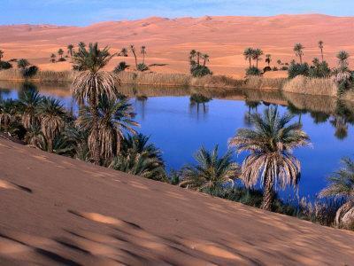 Umm Al-Miah- One of the Oasis Pools Part of the Dawada Lakes, Awbari, Libya