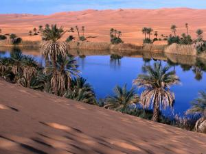 Umm Al-Miah- One of the Oasis Pools Part of the Dawada Lakes, Awbari, Libya by Doug McKinlay