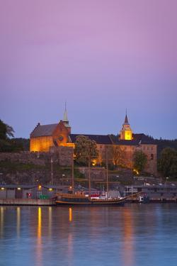 Akershus Fortress and Harbour, Oslo, Norway, Scandinavia, Europe by Doug Pearson