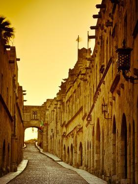 Avenue of the Knights (Ippoton Street), Rhodes Town, Rhodes, Greece by Doug Pearson
