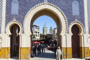 Bab Boujeloud Gate (The Blue Gate) by Doug Pearson