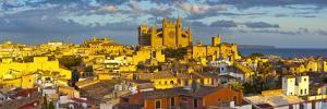 Cathedral La Seu and Old Town Rooftops, Palma De Mallorca, Mallorca, Balearic Islands, Spain by Doug Pearson