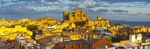 Cathedral La Seu and Old Town Rooftops, Palma De Mallorca, Mallorca, Balearic Islands, Spain by Doug Pearson