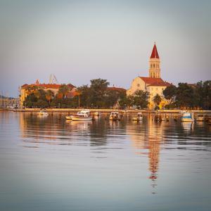 Cathedral of St. Lawrence Illuminated at Sunrise, Stari Grad (Old Town), Trogir, Dalmatia, Croatia by Doug Pearson