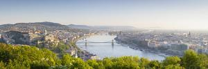 Elevated View over Budapest and the River Danube, Budapest, Hungary by Doug Pearson