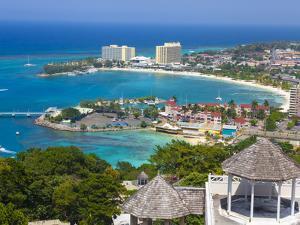 Elevated View over City and Coastline, Ocho Rios, St. Ann Parish, Jamaica, Caribbean by Doug Pearson