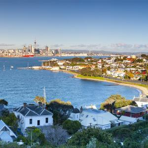 Elevated View over Devenport Towards Cbd, Auckland, New Zealand by Doug Pearson