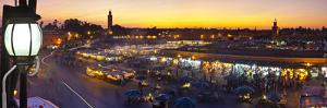 Elevated View over Djemaa El-Fna Square at Sunset, Marrakesh, Morocco by Doug Pearson
