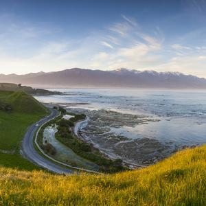 Elevated View over Picturesque Kaikoura Peninsula Illuminated by Doug Pearson