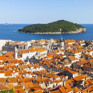 Elevated View over Picturesque Stari Grad (Old Town), Dubrovnik, Dalmatia, Croatia by Doug Pearson
