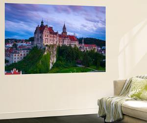 Elevated View Towards Sigmaringen Castle Illuminated at Dusk by Doug Pearson