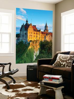 Elevated View Towards Sigmaringen Castle Illuminated at Sunset by Doug Pearson