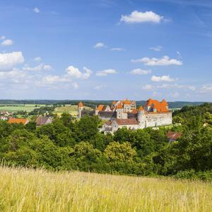 Elevated View Towards the Medieval Harburg Castle, Swabia, Bavaria, Germany by Doug Pearson