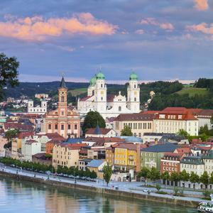 Elevated View Towards the Picturesque City of Passau at Sunset, Passau, Lower Bavaria by Doug Pearson