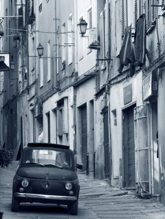 Fiat Driving in Narrow Street, Sassari, Sardinia, Italy by Doug Pearson
