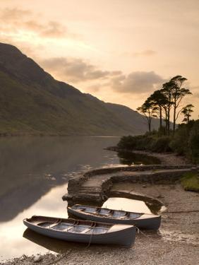 Fly Fishing Boats, Connemara National Park, Connemara, Co, Galway, Ireland by Doug Pearson