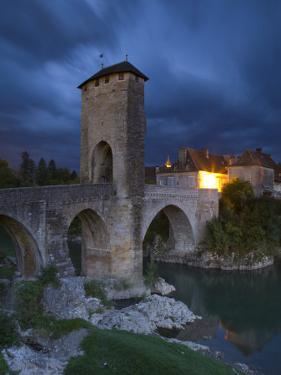 Fortified Bridge over the Gave De Pau, Orthez, Pyrenees-Atlantiques, Aquitaine, France by Doug Pearson