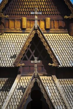 Gol Stave Church, Norwegian Folk Museum, Bygdoy Peninsula, Oslo, Norway, Scandinavia, Europe by Doug Pearson