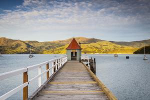 Historic Wharf, Akaroa, Banks Peninsular, South Island, New Zealand by Doug Pearson