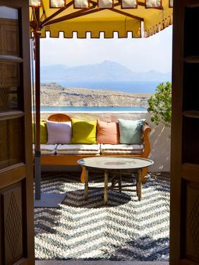 Hotel Interior Detail, Lindos, Rhodes, Greece by Doug Pearson