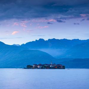 Isola Dei Pescatori (Fishermen's Islands) Illuminated at Dusk, Borromean Islands, Lake Maggiore by Doug Pearson
