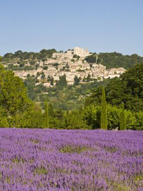 Lacoste and Lavender Fields, Luberon, Vaucluse Provence, France by Doug Pearson