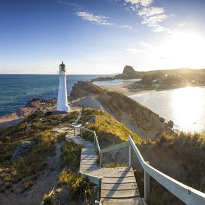 Lighthouse at Castlepoint, Wairarapa, North Island, New Zealand by Doug Pearson