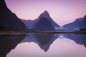 Mitre Peak, Milford Sound, Fiordland National Park, South Island, New Zealand by Doug Pearson