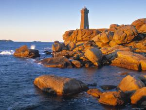 Ploumanach Lighthouse, Cote de Granit Rose, Cotes d'Amor, Brittany, France by Doug Pearson