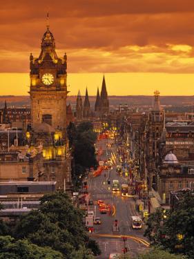 Princes St., Calton Hill, Edinburgh, Scotland by Doug Pearson