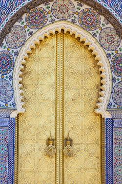 Royal Palace Door, Fes, Morocco, North Africa, Africa by Doug Pearson