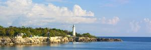 Rugged Coastline and Lighthouse, West End, Negril, Westmoreland Parish, Jamaica, Caribbean by Doug Pearson