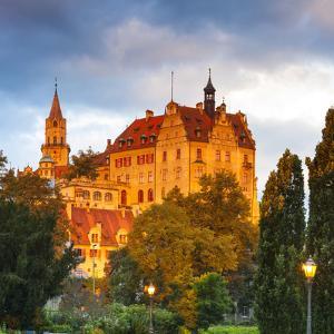 Sigmaringen Castle Illuminated at Sunrise, Swabia, Baden Wurttemberg, Germany, Europe by Doug Pearson