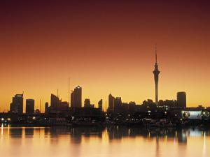 Skyline of Auckland, North Island, New Zealand by Doug Pearson