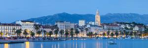 St. Domnius Cathedral Bell Tower and Stari Grad Illuminated, Split, Central Dalmatia, Croatia by Doug Pearson