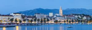 St. Domnius Cathedral Bell Tower and Stari Grad Illuminated, Split, Central Dalmatia, Croatia by Doug Pearson