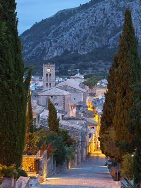Steps of the Way of the Cross and Nostra Senyora Dels Angels Church, Pollenca, Mallorca, Balearic I by Doug Pearson