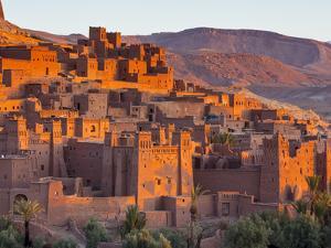 Sunrise over Ait Benhaddou, Atlas Mountains, Morocco by Doug Pearson