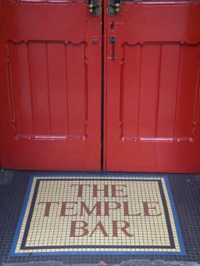 Temple Bar Pub Sign, Temple Bar District, Dublin, Ireland by Doug Pearson