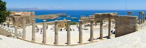 The Acropolis of Lindos, Lindos, Rhodes, Greece by Doug Pearson