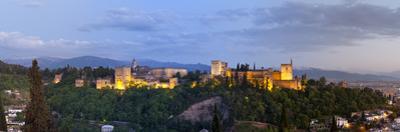 The Alhambra Palace Illuminated at Dusk, Granada, Granada Province, Andalucia, Spain by Doug Pearson