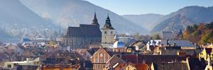 The Black Church and Clock Tower, Piata Sfatului, Brasov, Transylvania, Romania by Doug Pearson