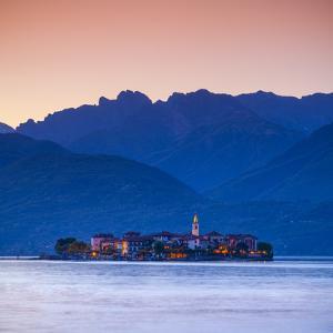 The Idyllic Isola Dei Pescatori (Fisherman's Islands) Illuminated at Dusk, Borromean Islands by Doug Pearson