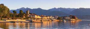 The Idyllic Lakeside Village of Baveno Illuminated at Sunrise, Lake Maggiore, Piedmont, Italy by Doug Pearson
