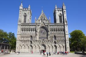 The Nidaros Cathedral, Trondheim, Sor-Trondelag, Norway, Scandinavia, Europe by Doug Pearson