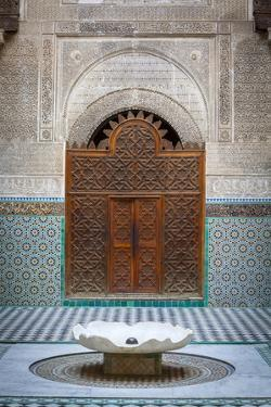 The Ornate Interior of Madersa Bou Inania by Doug Pearson