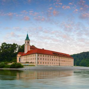 The Picturesque Weltenburg Abbey and the River Danube Illuminated at Sunrise, Lower Bavaria, Bavari by Doug Pearson